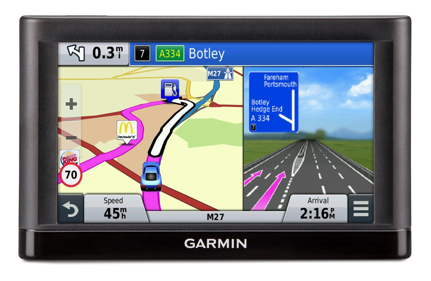 how to put different cars on garmin gps